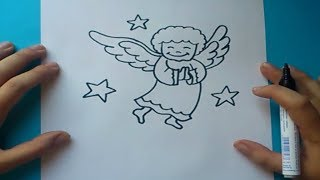 Como dibujar un angel paso a paso | How to draw an angel