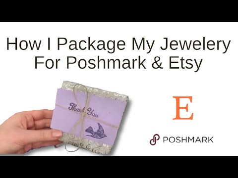 How I Package My Jewelry Orders For Etsy & Poshmark