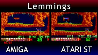 Amiga V Atari ST - Lemmings