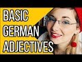 Learn German - Episode 28: Basic German Adjectives