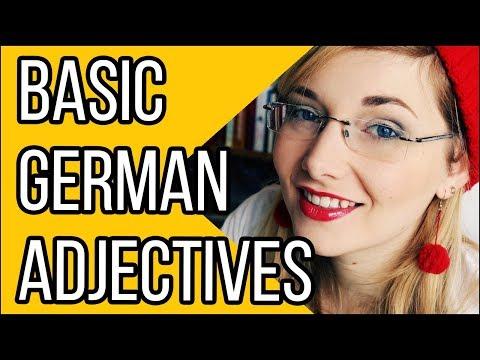 Learn German - Episode 28: Basic German Adjectives
