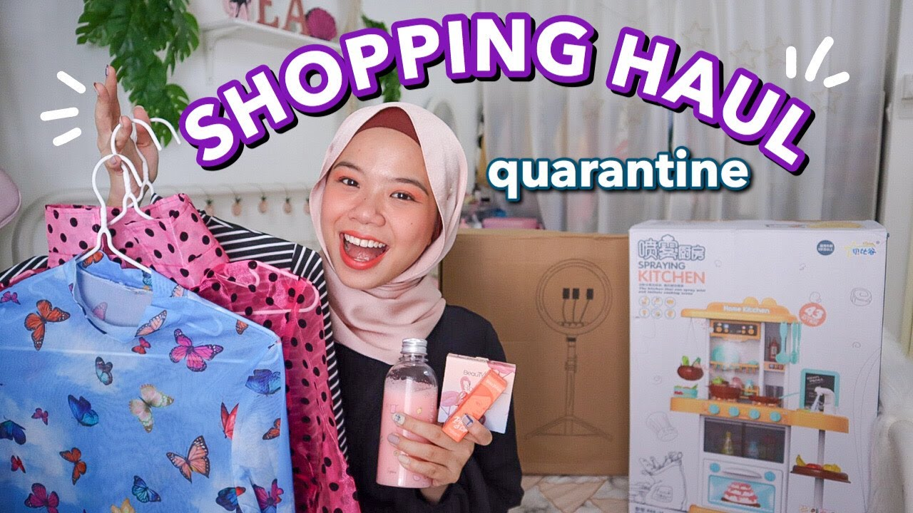 QUARANTINE SHOPPING HAUL (try-on, makeup, others)