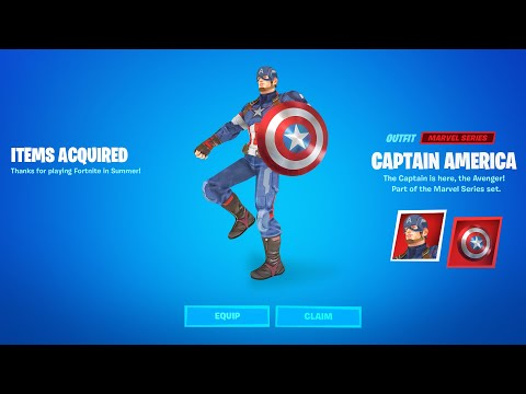 HOW TO GET CAPTAIN AMERICA SKIN IN FORTNITE! (NEW)