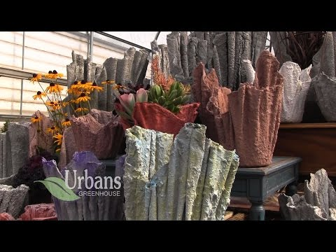 Urbans Greenhouse: Rudolph WI: Draped Hypertufa Planters