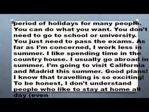 Как я провел лето на английском с переводом 11 класс