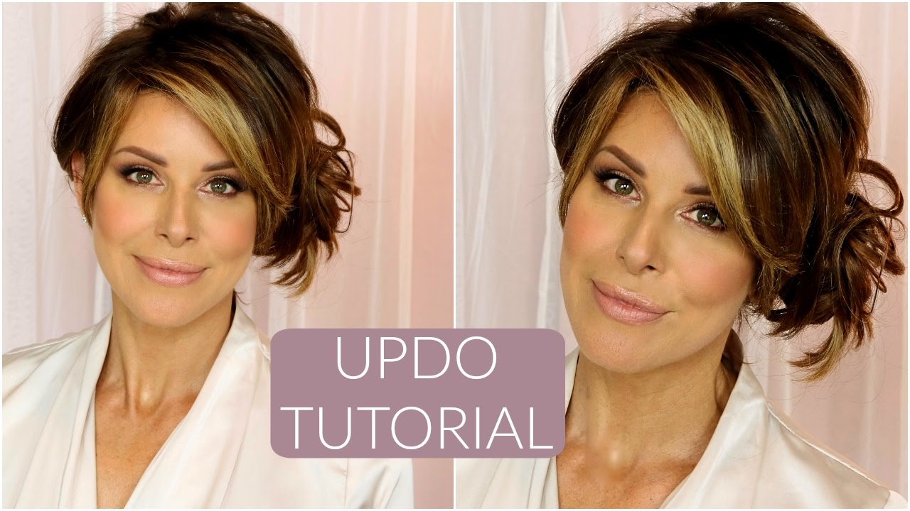 Updo With Clip In Extensions Tutorial Youtube