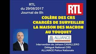 Colère des CRS  chargés de surveiller  la maison des Macron  au Touquet