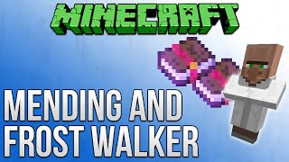 Minecraft 1.9: How To Get Mending & Frost Walker Enchantments Tutorial