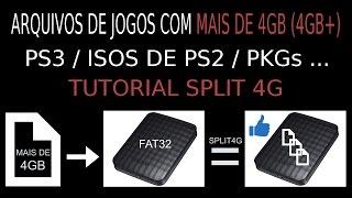 Como SPLITAR/DIVIDIR jogos com mais de 4GB (PS3, ISOS de PS2, PKGs,...). PASSO A PASSO DETALHADO!