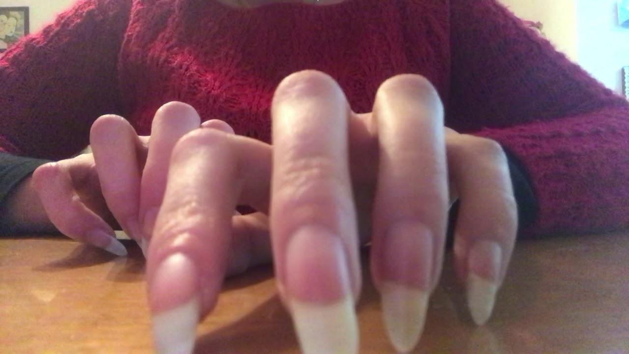 Asmr Piupy Nailart Tapping Her Beautiful Natural Claws Video 1