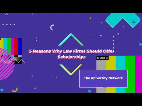 Why Law Firms Should Sponsor Scholarships | The University