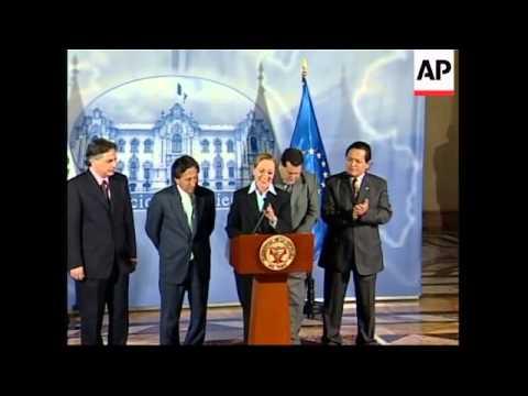 EU foreign chief meets Peruvian president