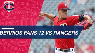 Berrios tosses seven shutout innings against Rangers
