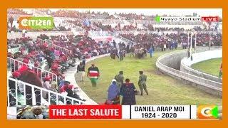 Members of public stream into Nyayo stadium