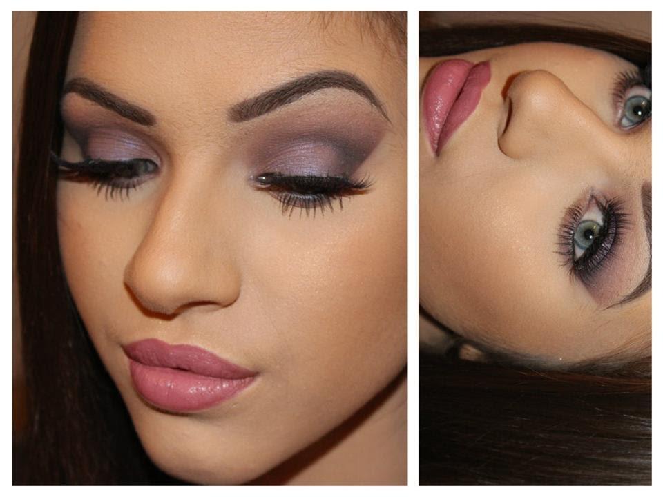Makeup Geek Eyeshadows - Purple Makeup Tutorial - YouTube