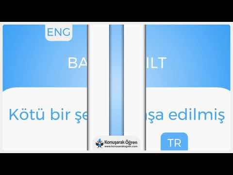 Badly built Nedir? Badly built İngilizce Türkçe Anlamı Ne Demek? Telaffuzu Nasıl Okunur?