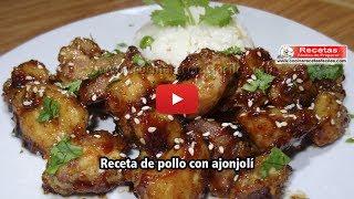 Pollo con ajonjolí - Recetas de pollo