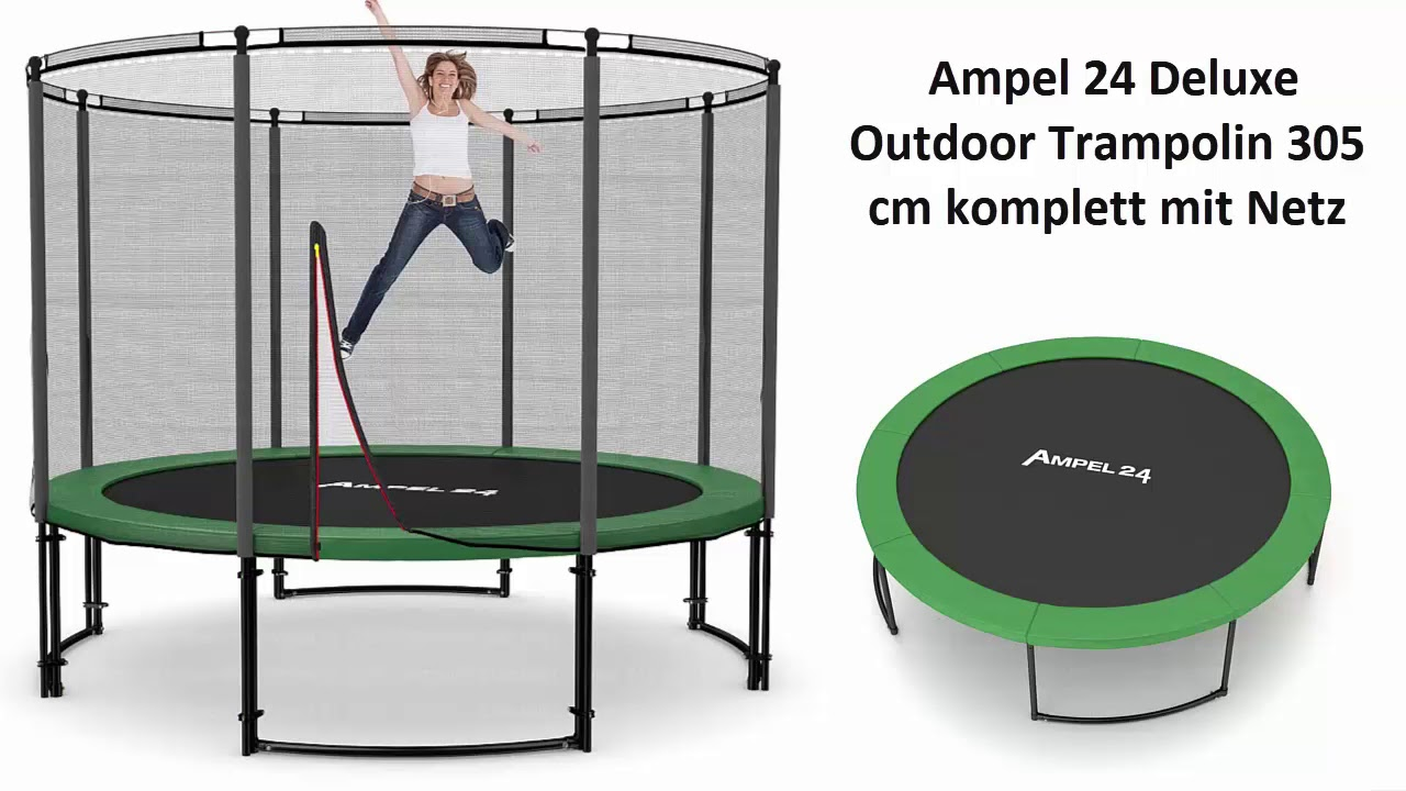 ampel 24 deluxe outdoor trampolin 305 cm test 2018 lohnt. Black Bedroom Furniture Sets. Home Design Ideas