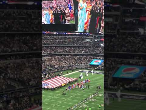 National Anthem by Freddie Jones at the Cowboys VS Rams game October 1st 2017