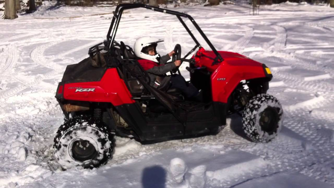 polaris rzr 170 donut in the snow youtube. Black Bedroom Furniture Sets. Home Design Ideas