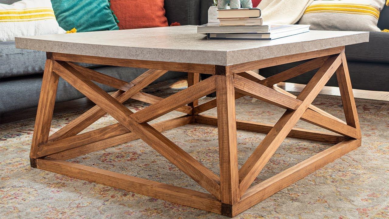 diy square coffee table with angled x legs no concrete anika s diy life