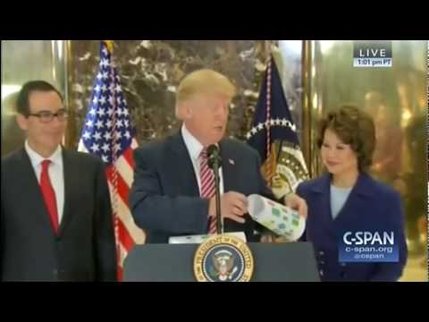 Download Youtube: Trump Shows Flowchart to 'Both Real and Fake Media'