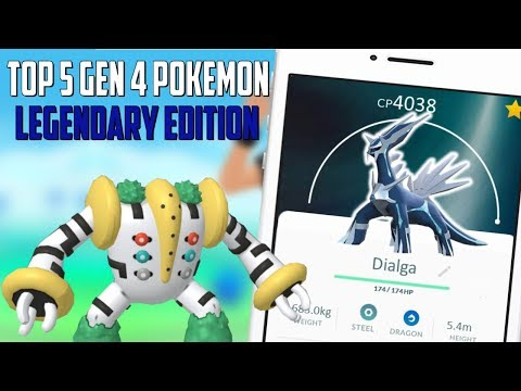 Top 5 Gen 4 Legendary Pokemon In Pokemon Go!
