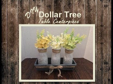 Superbe DIY Dollar Tree Farmhouse Table Centerpiece
