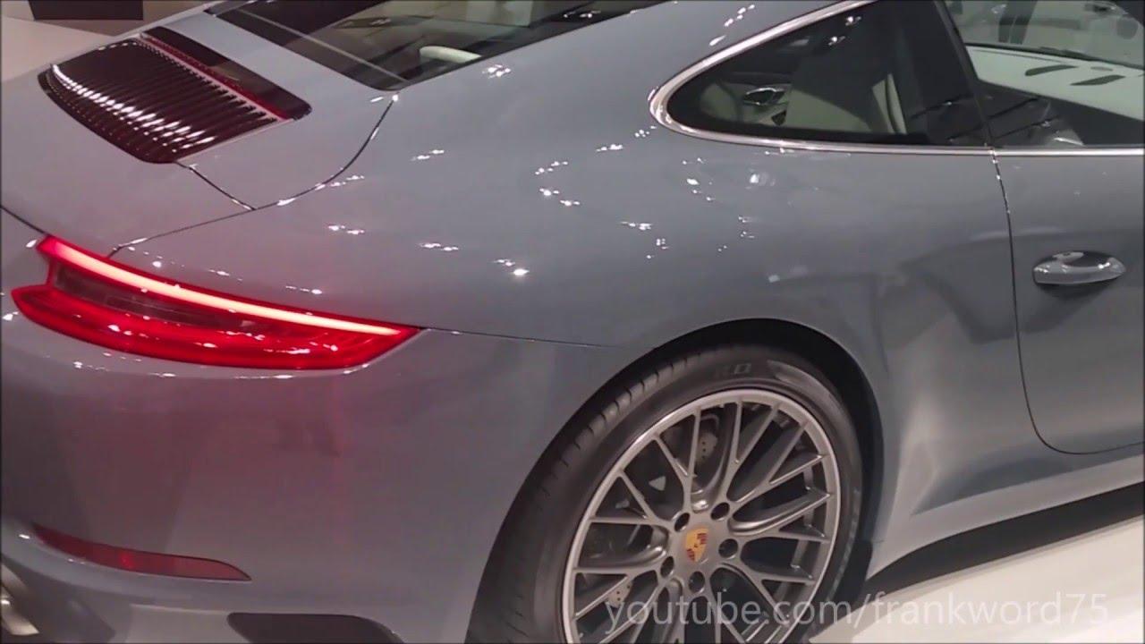 Porsche 911 Carrera Graphite Blue Metallic Walkaround