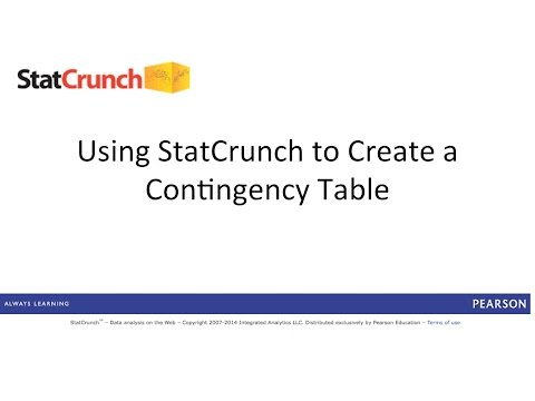 StatCrunch: Creating a Contingency Table
