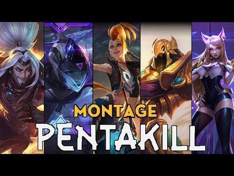 Pentakill Montage #61 ( Vayne, Azir, Jinx,.. ) | League Of Legends Mid