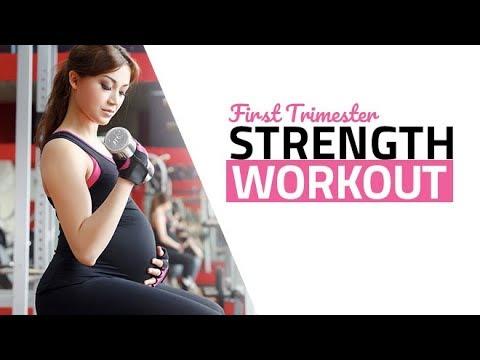 First Trimester Pregnancy Workout (SAFE PRENATAL STRENGTH TRAINING!!)