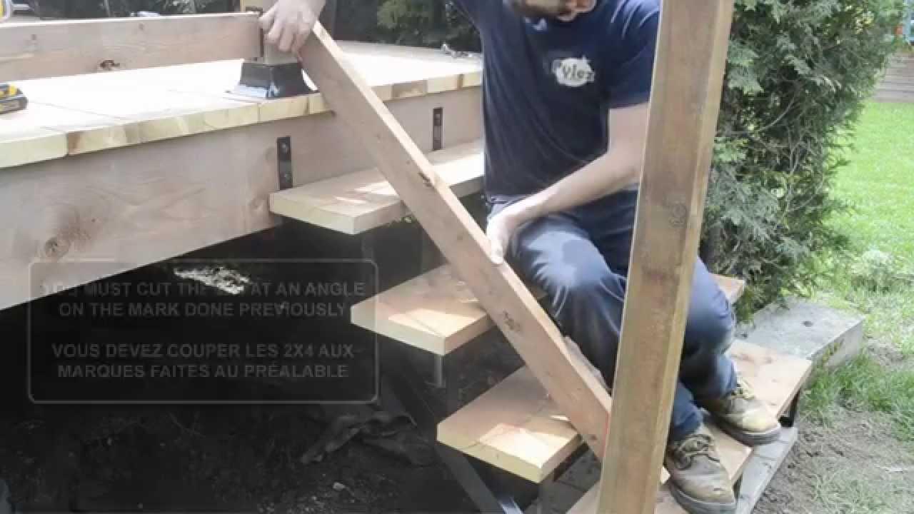 fixplak 23 24 26 stairway installation installation fixplak 23 24 26 dans un escalier youtube. Black Bedroom Furniture Sets. Home Design Ideas
