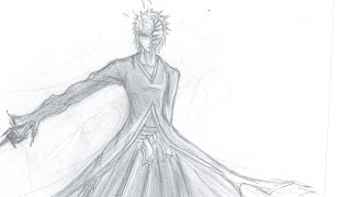 How to Draw Ichigo Kurosaki -Bankai Form (Hollow Mask)- 黒崎 一護