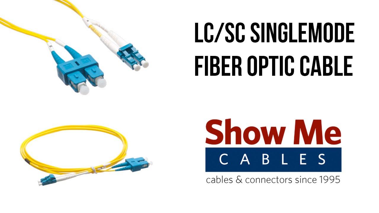 LC SC 9 125 Singlemode Duplex Fiber Patch Cable