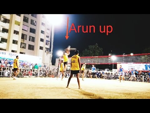 Tarsem ganganagar vs Arun up all India shooting volleyball tournament at surat, Gujarat final match