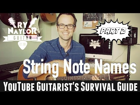 How to Name the Guitar Strings by Note | Musical Alphabet | Beginner Guitar Course Part 2