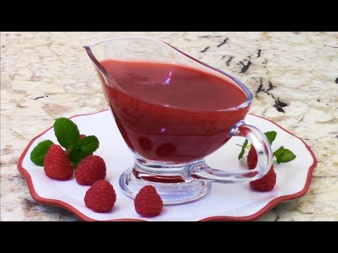 How To Make The Smoothest Raspberry Sauce - Dessert Topping 树莓酱做法