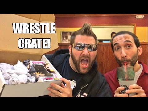 Waitress REACTS to WRESTLECRATE RESTAURANT UNBOXING Johnny Mundo Glasses!