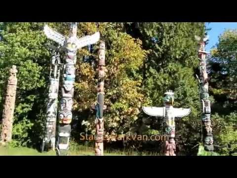 Totem Poles, Stanley Park, Vancouver, B.C., Canada 00036