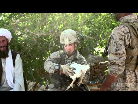 1/8 Marines tired of MRE's improvise their daily meals in Afghanistan (2012)