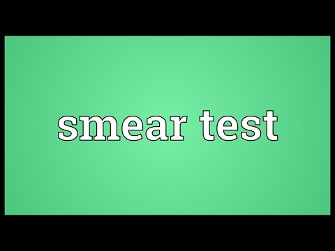 Smear test Meaning