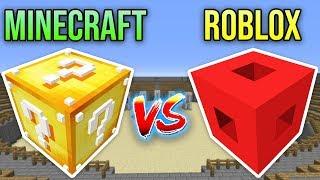 ROBLOX VS MINECRAFT ŞANS BLOKLARI CHALLENGE - Minecraft