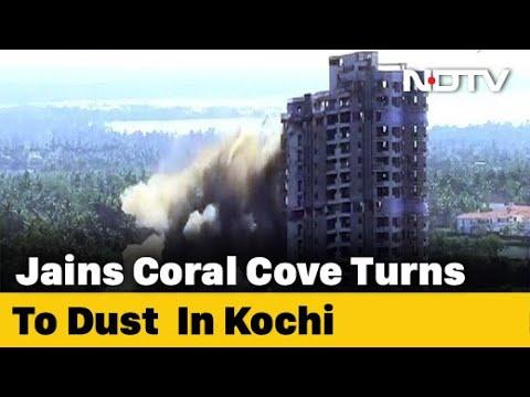 Watch: Luxury Flats Amid Backwaters Razed With Explosives In Kochi