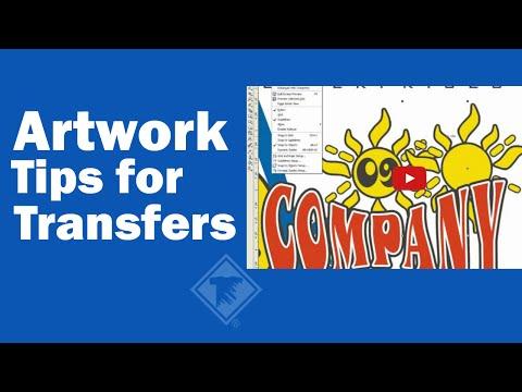 Artwork Tips for Transfers