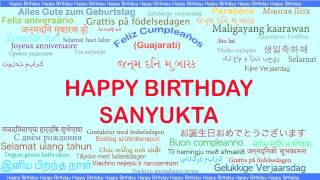 Sanyukta   Languages Idiomas - Happy Birthday