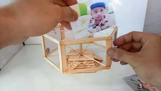 Photo frame with ice cream sticks | cách làm khung ảnh từ que kem