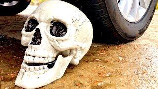 Crushing Crunchy & Soft Things by Car! Experiment Car Vs Skull
