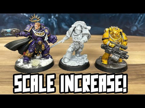 NEW Firstborn Marine Scale! They look Primaris size