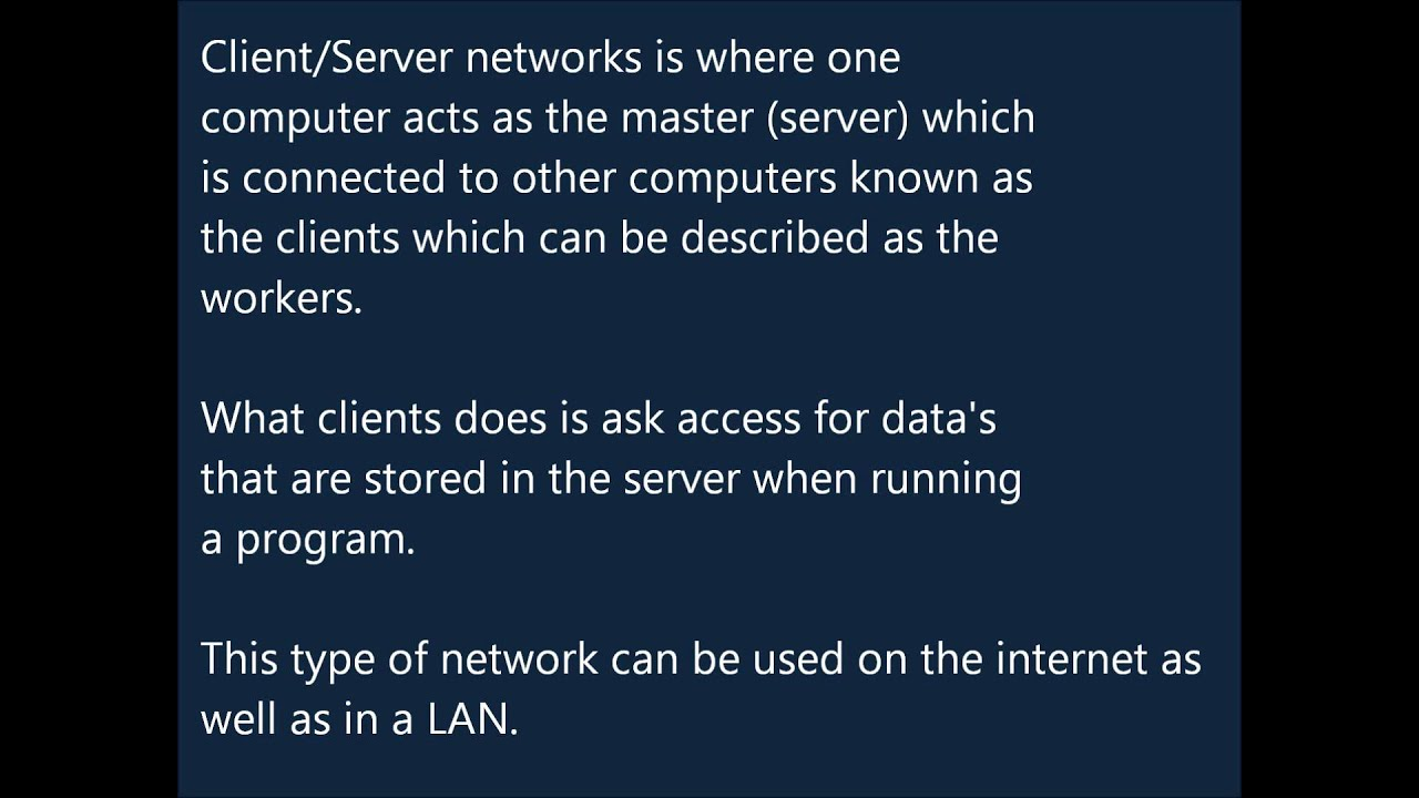 peer to peer vs client server networks Client/server and peer-to-peer models: basic concepts client/server peer-to-peer client/server and p2p systems are implemented as virtual networks of.